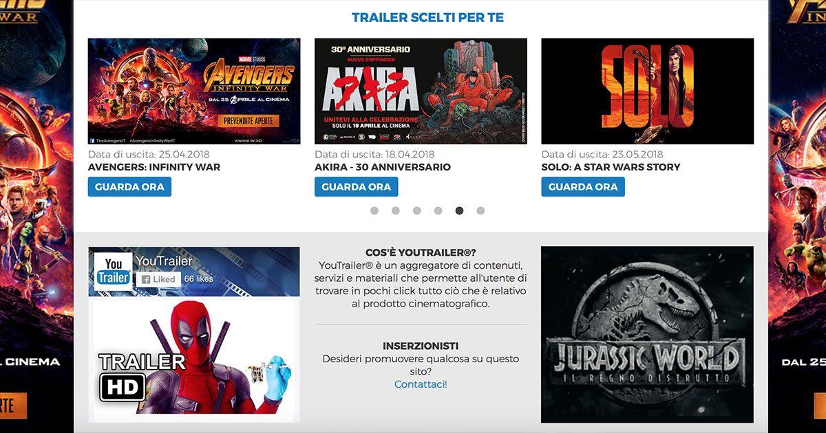 YouTrailer - I migliori trailer scelti per te